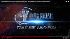 Professional looking Futuristic Space Custom Video Intro in 720p HD! 12 Seconds!