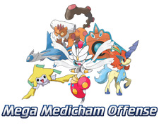 Ultra Pokemon Sun and Moon Mega-Medicham Offensive Team 6IV-EV Trained