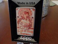 ART NOUVEAU REDHEAD PINUP GIRL ZIPPO LIGHTER MINT IN BOX 2016