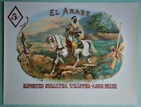 """EL ARABE"" Inner Lid Cigar Box Label, form early 1900's or earlier"