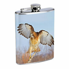 Hawk Flask D4 8oz Stainless Steel Bird of Prey Falconry Talons North American