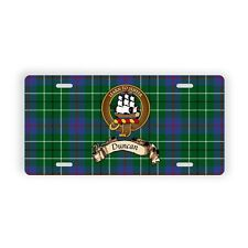 Duncan Scottish Clan Novelty Auto Plate Tag Family Name License Plate