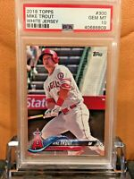2018 TOPPS MIKE TROUT #300  WHITE JERSEY PSA 10 GEM MINT ANGELS HOF?