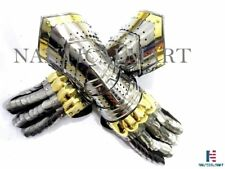 Real Simple...A Handtooled Handcrafted Gauntlets Armor Pair / theatre
