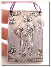 ANTIQUE 1920's MARY HELP of CHRISTIANS MARIA AUXILIADORA SHRINE PROTECTOR PLAQUE