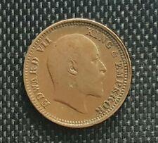 1920 British India Edward VII One Quarter  Anna coin,F (+FREE 1 coin) #D8911