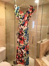 Women's Summer Floral Short Sleeve Long Maxi Dress.