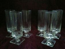 Rosenthal WEDGE CUT 6 3/4 in.  Glasses - Set of 6 - FREE U.S. SHIPPING