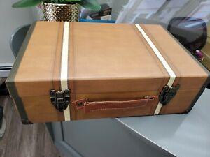 Punch Studio  Box Chest Suitcase  Kaki  With Stripes.