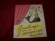 Vintage WW II Era Greeting Card From The Sawtooth Club.  Gowen Field, Boise, ID.