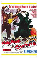 King Kong versus Godzilla 1962 movie poster print