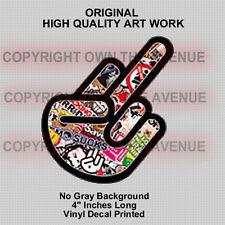 Shocker F* OFF Sticker Bomb JDM Vinyl Decal Sticker Funny Dope (2ShockerFoff)