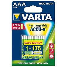 4x  AAA (Micro) Akku  VARTA  NiMH Ready2Use AKKU 800 mAh HR03 - 1,2 Volt