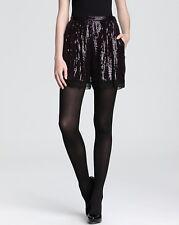 Diane von Furstenberg Plum Purple Sequin Sandra Cuvet Dress Shorts $365 NWT 0
