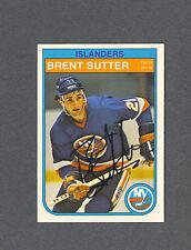 Brent Sutter signed Islanders 1982-83 Opee Chee hockey card