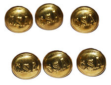 American Civil War Confederate CSA Reproduction Small Jacket Cuff Buttons X 6