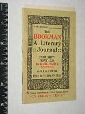 The Bookman: A Literary Journal - Vintage 1897 Dodd Mead & Co Pocket Booklet