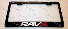 RAV4 RAV 4 Toyota Stainless Steel Black License Plate Frame Rust Free W/ Caps