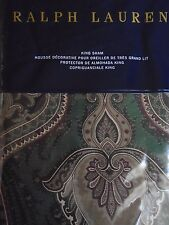 New Ralph Lauren Great Compton Westport Green King Pillow Sham
