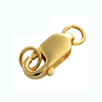 Real Pure 18K Yellow Gold AU750 Lobster Claw Hook Spring Hook DIY For Necklace