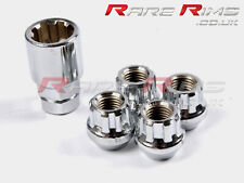 Chrome Locking Wheel Nuts x4 M12x1.5 Fits Mazda MX5 Eunos Roadster Sport Miata