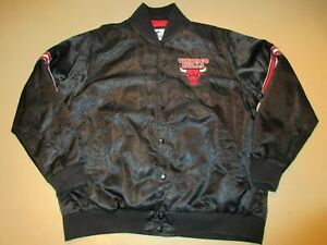 Chicago Bulls Starter G III GIII Apparel Group Satin Snap Up Jacket XXL