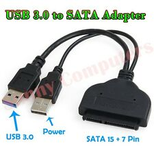 "USB3.0 to SATA 7+15 22-Pin Adapter Cable Cord For 2.5"" HDD SSD Hard Disk Drive"