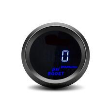 2 52mm Blue Digital Led Turbo Boost Gauge Meter Psi Pressure Gauge Black Face
