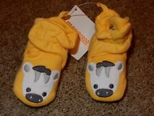 NWT 0-3M GyMbOrEe Little baby Zebra Crib Shoes Slippers with Adjustable Snaps