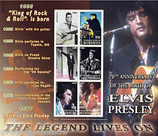 Elvis Presley The Legend (1955-1973) UMM Stamp Sheet (Micronesia)