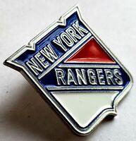 Vintage 1990's NEW YORK RANGERS Logo Commemorative Lapel Pin NHL Mint