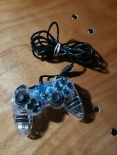 Afterglow PS3 Wired Controller Clear Blue Glow Sony Playstation 3 PL6302 WORKS