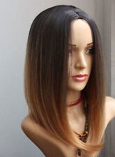 beautiful fashion long brown mix natural sexy's hair wig wigs for women