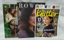 3 x Knitting Books & Magazines: Rowan No. 34, Country Knits & The Knitter No. 56