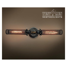 Rustic Light Steampunk Armed Mesh Wall Sconce Fixture Vintage Industrial Bronze