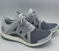 Womens Adidas Pure Boost X Silver Gray White Running Shoe Sneaker Size 9.5