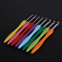 8x Coloured Crochet Hook Pro Waves Knitting Needles Set Soft Grip Handle 2mm-6mm