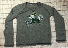 Notre Dame Fighting Irish Gray Long Sleeve Men's Medium Grey Alta Gracia Soft