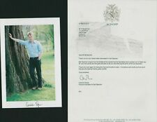 CHARLES SPENCER Signed photo & letter  Brother DIANA Princess Wales  HL3.1479