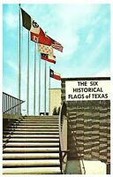 Six Flags Over Texas the Six Historical Flags Postcard