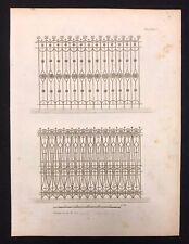 Antico 1800 Arch. stampa costruttori MAGAZINE 2 DISEGNI FERRO PER RINGHIERE, XXXVI