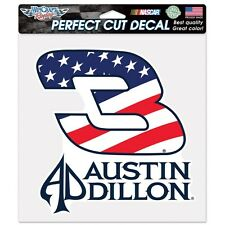 """AUSTIN DILLON #3 DOW STARS & STRIPES 8""""X8"""" COLOR DIE CUT DECAL NEW WINCRAFT"""