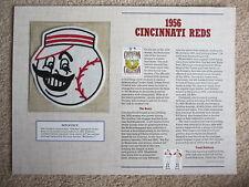 1956 Cincinnati Reds Willabee & Ward Cooperstown Collection Baseball Team Patch