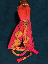 Mattel Rock Flowers Orange Pantsuit With Scarf Vintage Clothing 2 Piece Outfit