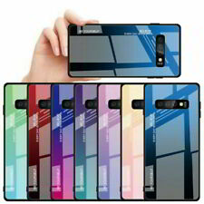 For Samsung Galaxy S10e Gradient Tempered Glass Hard Phone Case Defense Cover