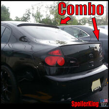 COMBO (Fits: Infiniti G35 2003-06 4dr) Rear Roof Wing & Trunk Spoiler 284R/244L