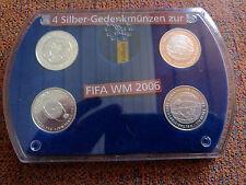 Silber-Gedenkmünzen Fußball-WM 2006 in Deutschland - alle 4 Ausgaben in Box
