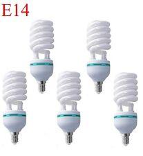 5 X E14 espiral 18W 6400K CLF Bombilla de 18 vatios de ahorro de energía Bombilla de luz del día