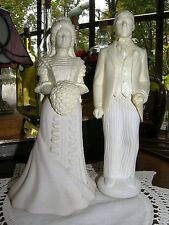 2375) Avon Bridal Moments Bride & Proud Groom Sweet Honesty Cologne Decanters