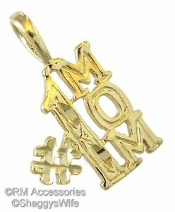 #1 Mom Charm Word Pendant EP Gold Plated with a Lifetime Guarantee!